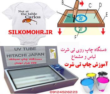 آموزش چاپ تی شرت و لباس